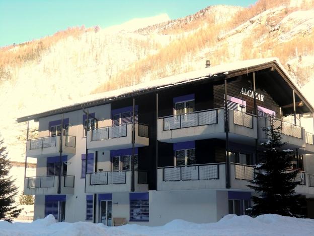 Haus Alcazar im Winter